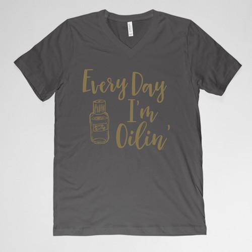 Every Day I'm Oilin' Shirt - Black