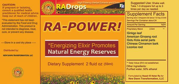 RA-POWER - Super Potent Herbal Energy Drops (2oz)