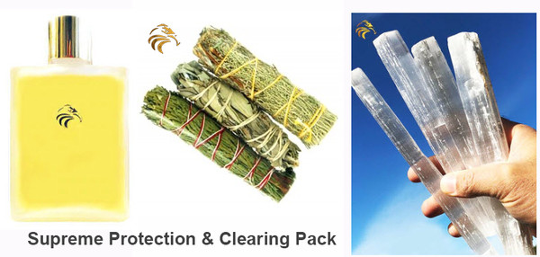 Supreme Protection and Clearing Pack (Includes 1 large crystal)