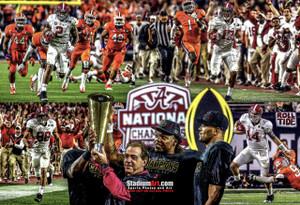 Alabama 2015 National Champions Crimson Roll Tide 1 College Football Art 8x10-48x36