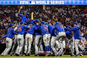 Chicago Cubs  2016 World Series Champions Art W Flag MLB Baseball Print 01 8x10-48x36