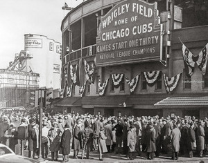Chicago Cubs Wrigley Field Old MLB Baseball Photo 51 8x10-48x36
