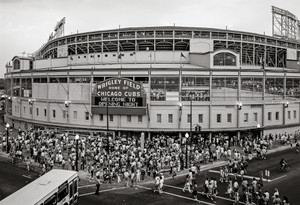 Chicago Cubs Wrigley Field Old MLB Baseball Photo 57 8x10-48x36