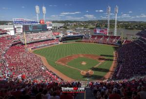 Cincinnati Reds Great American Ball Park Ballpark MLB Baseball Stadium Photo 01 8x10-48x36