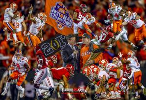 Clemson Tigers National Champions 2016 Art Print 02 8x10-48x36