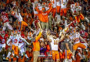 Clemson Tigers National Champions 2016 Art Print 03 8x10-48x36