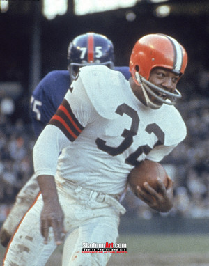 Cleveland Browns Jim Brown Football Photo Print 02 8x10-48x36