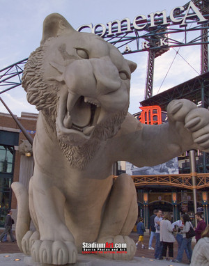 Detroit Tigers Comerica Park Baseball Stadium z Entrance Photo Print 30 8x10-48x36