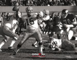 Green Bay Packers Bart Starr Football 8x10-48x36 Photo Print 50