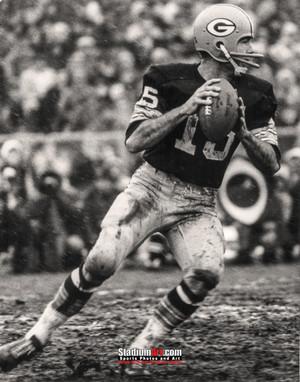 Green Bay Packers Bart Starr Football 8x10-48x36 Photo Print 54