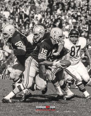 Green Bay Packers Bart Starr Football 8x10-48x36 Photo Print 57