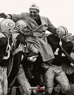 Green Bay Packers Vince Lombardi Football 8x10-48x36 Photo Print 52