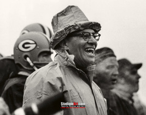 Green Bay Packers Vince Lombardi Football 8x10-48x36 Photo Print 53