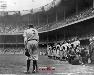 New York Yankees z Babe Ruth NY Baseball 8x10-48x36 Photo Print 52