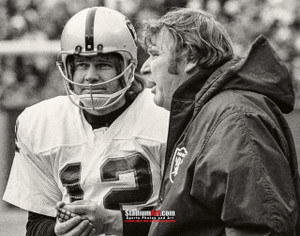 Oakland Raiders Ken Stabler Quarterback QB John Madden NFL Football Photo Art Print 8x10 or 11x14 or 40x30 StadiumArt.com Sports Photos
