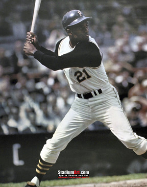 Pittsburgh Pirates Roberto Clemente Baseball Player Photo Art Print 8x10 or 11x14 or 40x30 StadiumArt.com Sports Photos