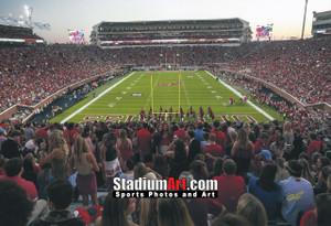 Ole Miss Rebels Mississippi Vaught Hemingway Stadium NCAA College Football 8x10-48x36 Photo Print 5210