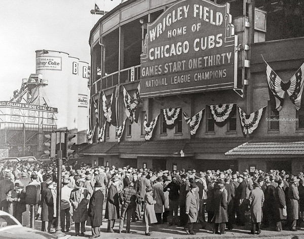Chicago Cubs Wrigley Field Old MLB Baseball Photo 51 8x10-48x36