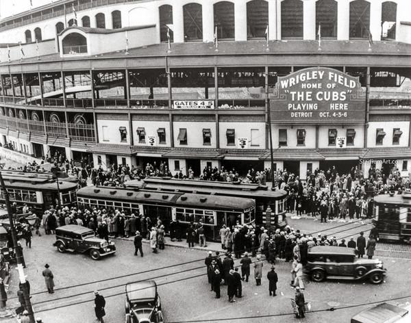 Chicago Cubs Wrigley Field Old MLB Baseball Photo 52 8x10-48x36