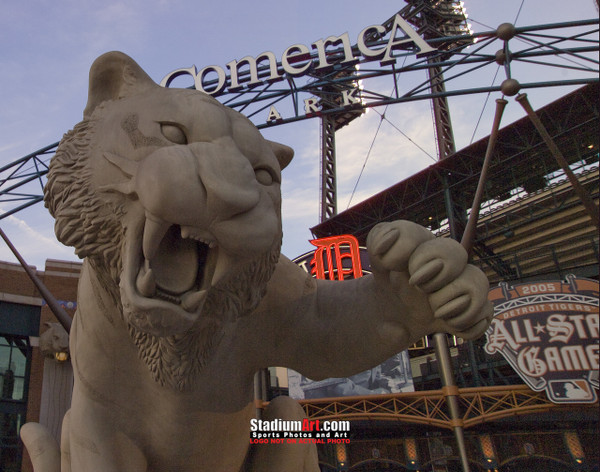 Detroit Tigers Comerica Park Baseball Stadium z Entrance Photo Print 31 8x10-48x36