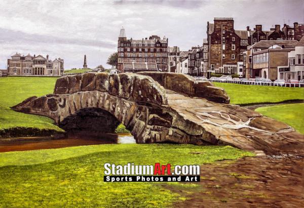 St Andrews Links Old Course 2120 Swilkens Bridge  8x10-48x36 Art Print