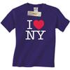 Purple I Love NY T-Shirt