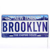 Brooklyn license plates, embossed tin