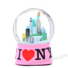 I Love NY Snow Globe 65mm - Pink