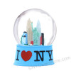 I Love NY Snow Globe 65mm - Blue