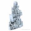 Silver New York City Landmarks Magnet