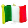 Italy Flag Glass Ornament