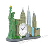 New York City skyline model replica clock souvenir