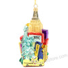Polonaise New York City Collage Glass Ornament