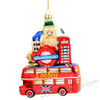 London Bus and Landmarks Glass Ornaments