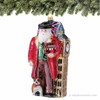Polonaise British Santa Glass Christmas Ornament