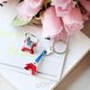 Red, White & Blue 3D Eiffel Tower Key Chain