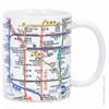 White New York City Subway Lines Mug, 11oz coffee mug