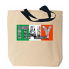 Italy Canvas Tote Bag