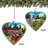 San Francisco Glass Heart Ornament