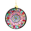 Paris Notre Dame Rose Window Ornament - Glass