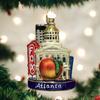 Atlanta Landmarks Glass Ornament