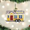 Tiny House Glass Ornament