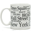 White New York Landmarks Coffee Mug