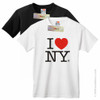 I Love NY T-Shirts in white and black.  Adult unisex I Love NY Shirts