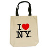 Natural I Love NY tote bag