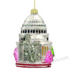 Washington DC Christmas Ornament, Glass