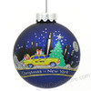 nyc skyline taxi ornament