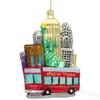 New York City Tour Bus Glass Ornament