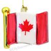 Canadian Flag Glass Ornament