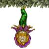 Mardi Gras Glass Christmas Ornament - Green Hat